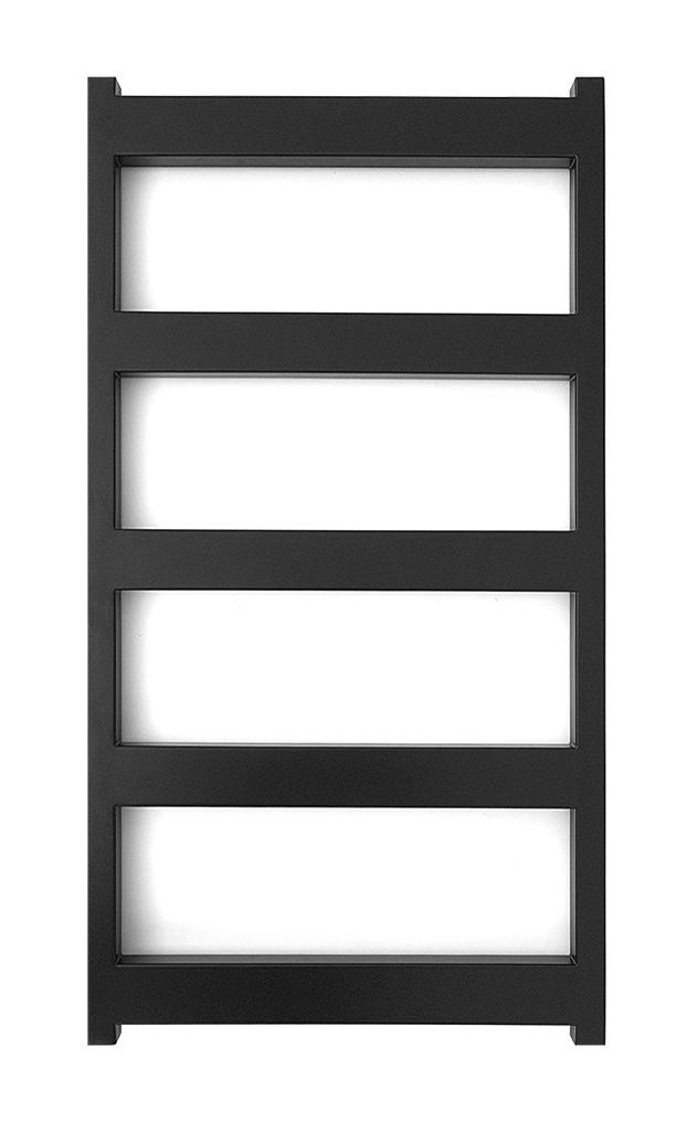 Електричний полотенцесушитель Genesis-Aqua Nova 80x53 см чорний