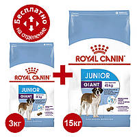Royal Canin Giant Junior 15 + 3 кг - корм для цуценят великих порід