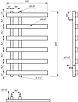 Электрический полотенцесушитель Genesis-Aqua Split 80x53 см черный, фото 2