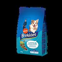 Brekkies Dog with Salmon 4кг корм для собак с лососем