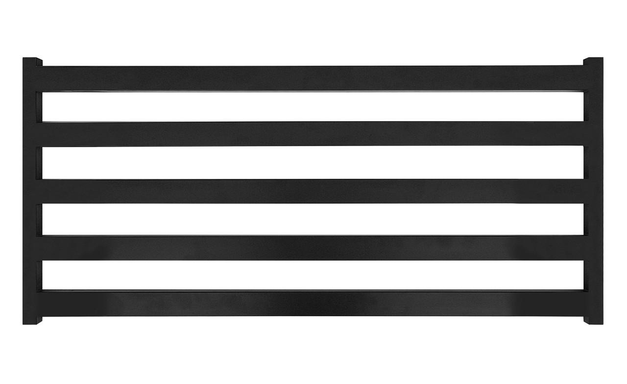 Електричний полотенцесушитель Genesis-Aqua Barker 120x55 см чорний