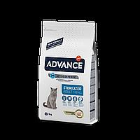 Advance Cat Sterilized 3 кг корм для стерилизованных кошек c индейкой