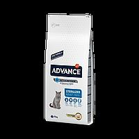 Advance Cat Sterilized 15 кг корм для стерилизованных кошек c индейкой