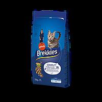 Brekkies Cat Complet 15 кг - корм для кошек с курицей и рыбой