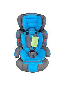 Детское автокресло сиденье бустер Summer Baby Cosmo с 9 месяцев до 12 лет, голубое в машину