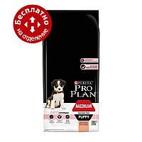 Purina Pro Plan Puppy Medium Optiderma 12 кг- для щенков средних пород с лососем