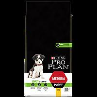 Purina Pro Plan Puppy Medium Optistart 12кг - для щенков средних пород с курицей