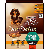 Pro Plan Duo Delice Adult Small & Mini 0,7кг - корм с говядиной для собак мелких пород