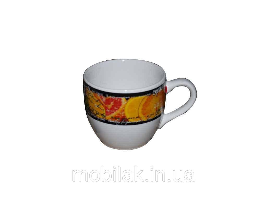 Чашка Одеса 0,210 л біла з деколь Цитрус ТМ АВАНГАРД