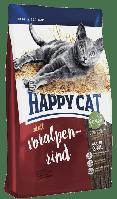 Happy Cat Voralpen Rind 4кг корм для кішок з яловичиною