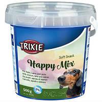 Trixie TX-31495 Happy Mix 500гр смесь лакомств для собак (ягнёнок, лосось, курица)