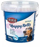 Trixie TX-31498 HappyRolls 500гр -лакомство для собак с лососем