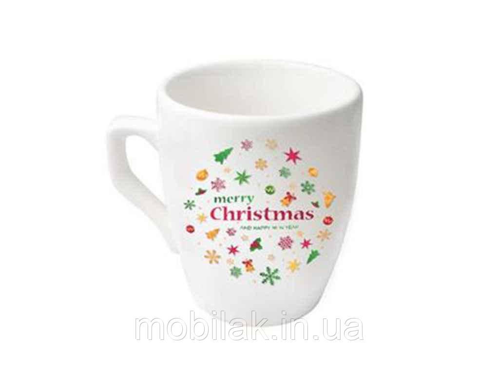 Чашка 320мл Європа Сніжка Merry Christmas 235014000 (6шт. в уп.) ТМ ПОЛИГЕНЬ