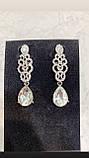 Сережки колір срібло ажурні (6,5 см), фото 4