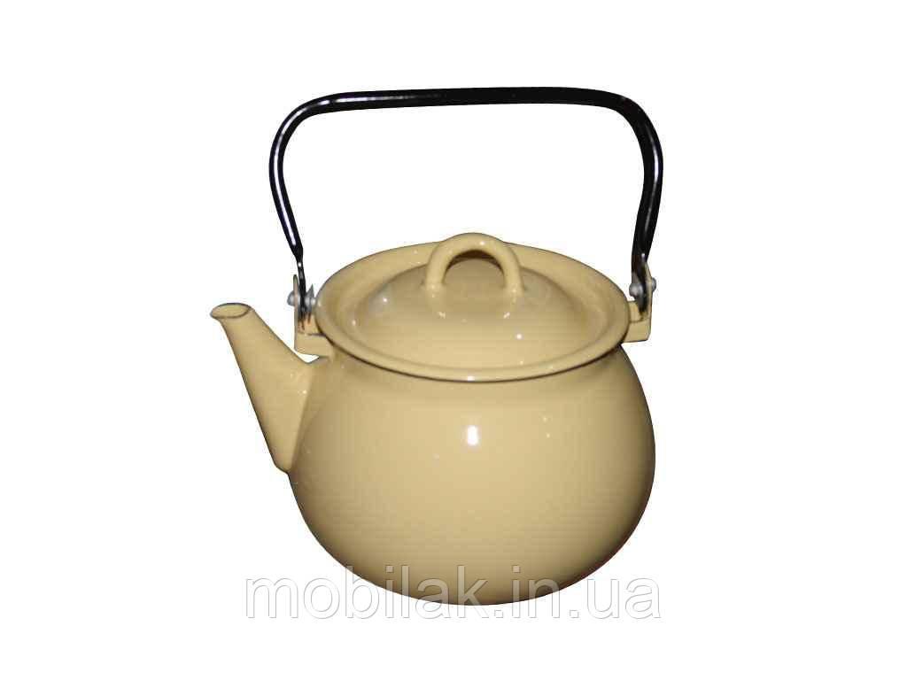 Чайник емальов. 2,5л/1 Кремова (I27101/1)ТМ IDILIA