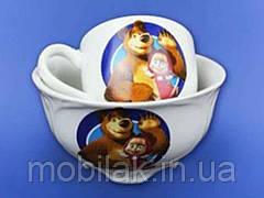 Набір дитячий з деколь Маша,2предм:чашка Одеса,салатник Суми0,480л ТМ АВАНГАРД