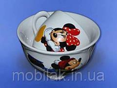 Набір дитячий з деколь Міккі Маус з 2х предмет:чашка,салатник 0,480 л ТМ АВАНГАРД