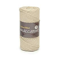 Трикотажный хлопковый шнур Cotton Filled 3 мм, цвет Светло-бежевый