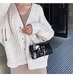 Стеганный клатч женский бардо, фото 7