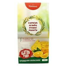 Печенье без глютена Кукурузно-апельсиновое Кохана 170 г