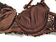 Бюстгальтер пуш ап з мереживом чашка 80А-В 🍫 шоколадний, фото 6
