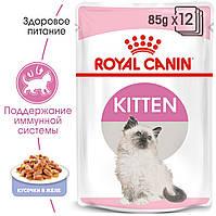 Royal Canin Kitten (кусочки в желе) 85г*12шт паучи для котят