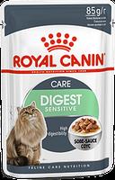 Royal Canin Digest Sensitive в соусе 85г*12шт-паучи для улучшения пищеварения у взрослых домашних кошек