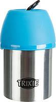 Trixie TX-24605 пляшка дорожня+миска (сталь/пластик) 300мл