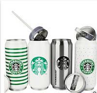 """Термос с клапаном и трубочкой """"Starbucks"""" эмблема ,300 мл"""