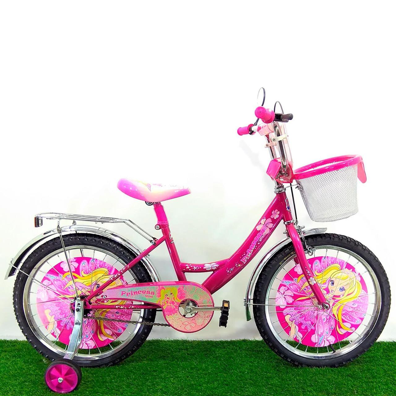 Детский велосипед Mustang Принцесса 18 дюймов розовый