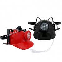 Шлем МЧСника с фонарем для пива