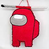 Амонг Ас Among Us пиньята бумажная для праздника Пиньята Космонавт персонаж игры белый пината амонг асик, фото 2