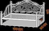 """Ліжко-диван, тапчан """"Орфей"""". Колір та розміри можливо змінювати, фото 2"""