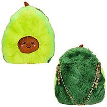 Сумка - рюкзак Авокадо, М'яка іграшка подушка Авокадо плюш.
