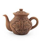 Чайник заварювальний середній 1л ліплення Калина