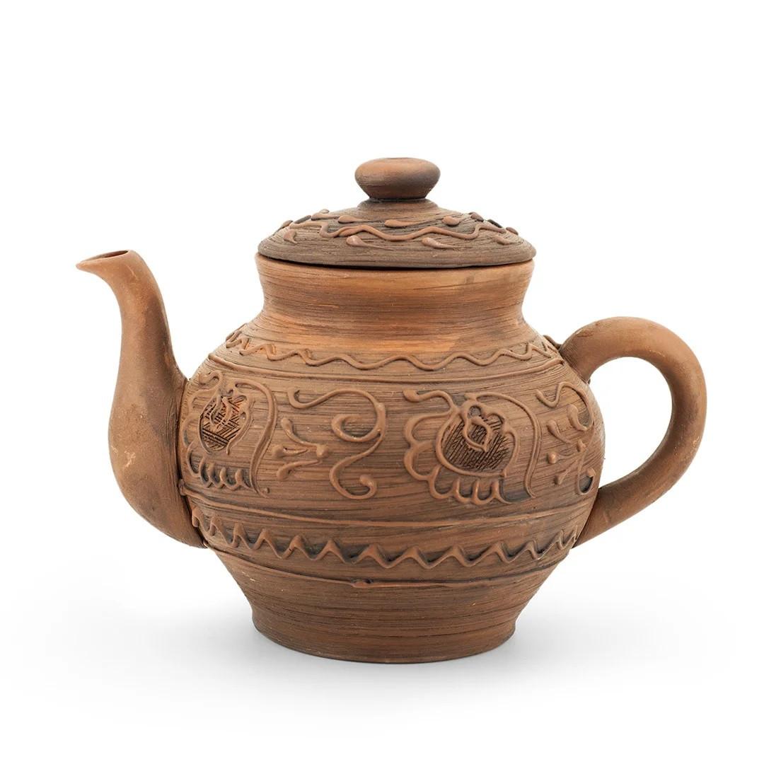 Чайник заварочный большой 1,7 л лепка Волна