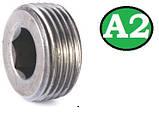 Пробка коническая резьбовая М16х1.5 DIN 906 А2, фото 5