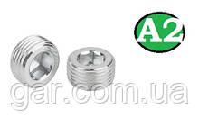 Пробка коническая резьбовая М16х1.5 DIN 906 А2