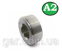 Пробка коническая резьбовая М20х1.5 DIN 906 А2