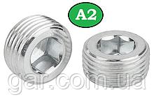 Пробка коническая резьбовая М22х1.5 DIN 906 А2