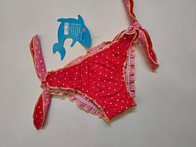 Плавки TERES для девочек Горошек  155-2 красный  (В НАЛИЧИИ ТОЛЬКО  24 26 28 размеры)