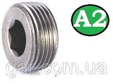 Пробка коническая резьбовая М26х1.5 DIN 906 А2
