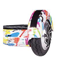Гироборд гироскутер гіроборд гіроскутер с блютузом и колонками с колёсами 8 дюймов Белый Граффити, фото 2