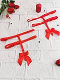Підв'язки для панчіх (портупеї) з регуляторами Червоні, фото 3