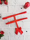 Підв'язки для панчіх (портупеї) з регуляторами Червоні, фото 5