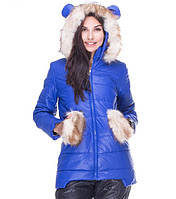Женская зимняя куртка ушки, фото 1