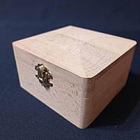 Деревянная заготовка для декупажа шкатулка 12х12х7 см с бархатом
