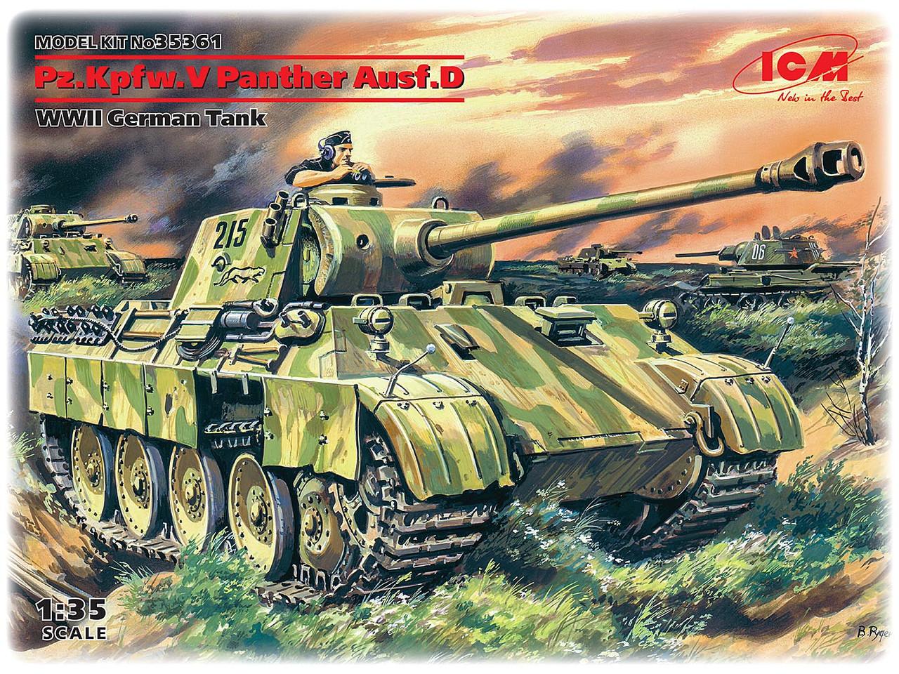 Pz.Kpfw. V Panther, Ausf. D. Сборная модель немецкого танка. 1/35 ICM 35361