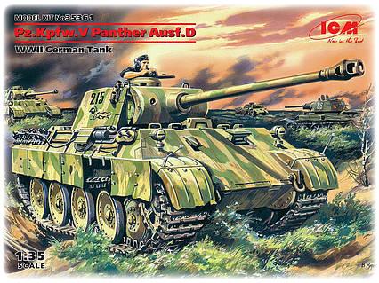 Pz.Kpfw. V Panther, Ausf. D. Сборная модель немецкого танка. 1/35 ICM 35361, фото 2