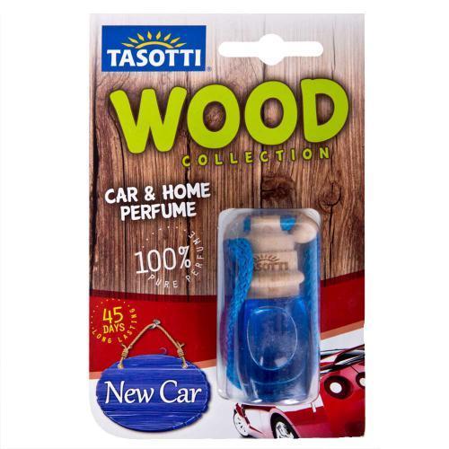 """Ароматизатор пробковый на зеркало Tasotti/серия """"Wood"""" - 7ml / New Car ((60))"""